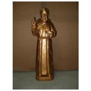 Statue of Padre Pio in Gold