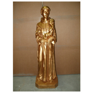 Gold St. Anthony statue