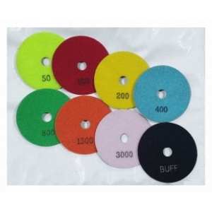 100mm dry polishing pads