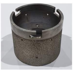 Vacuum brazed grinding drum